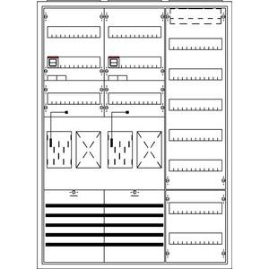 KS723, Komplettschrank, Aufputz mit BKE-I, 3/3A 2Z2R1V7 Schutzklasse II, Schutzart IP31