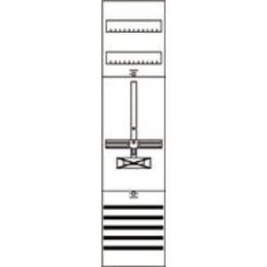 1ZF3209, Zählerfeld BH3 1-FB SS 5p. nicht verdrahtet mit Zählerkreuz