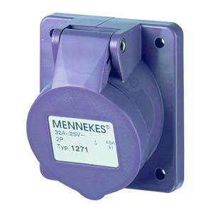 Anbaudose, 32A2p0h, Kleinsp., IP44