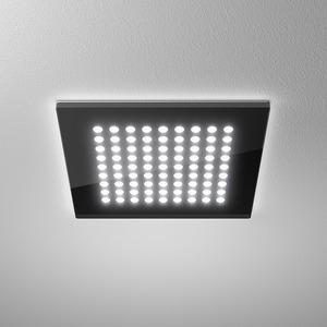DOMFLQ 109.40.02 schwarz, Domino Flat Square Einbau-Downlight 18W 840 1070LM Quadrat schwarz