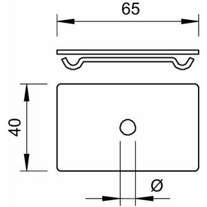 GMA M10 A4, Mittenabhängung für Gewindestange M10 60x40, V4A, A4