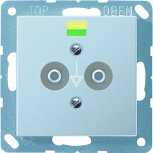 A 565-2 BF ANM, Potentialausgleich-Steckdose, 2 Steckerstifte nach DIN 42801, Tragring, bruchsicher
