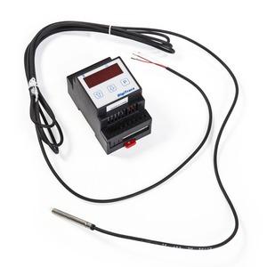 SBS-MONT-RAYSTAT-CONTROL11-DIN, Thermostat RAYSTAT-CONTROL-11DIN eingebaut im Schaltschrank.