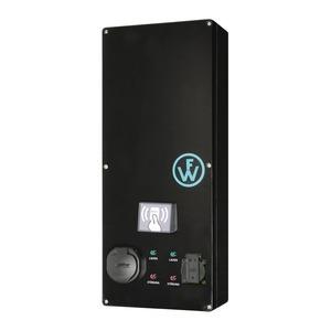 Wallbox SLIM-LINE RFID mit einem LadepunktTyp2 bis 32A / 22kW und einer Schutzkontaktsteckdose, elektronischen Zähler und Systembetrieb-98300113