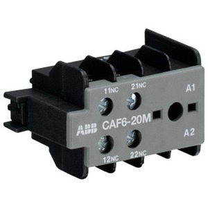 CAF6-20M, Hilfsschalter 2S/0Ö Schraubanschluss, frontseitig anbaubar,