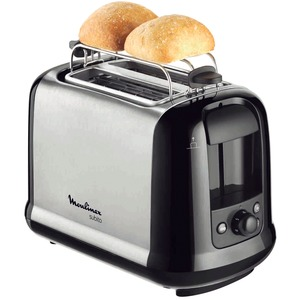 Toaster Subito Edelstahl, Edelstahl Matt/Schwarz