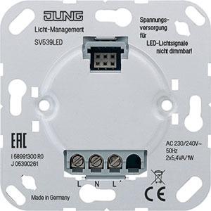 SV 539 LED, Spannungsversorgung, AC 230 V ~, Anschlüsse: L, N, L', für LED-Lichtsignal