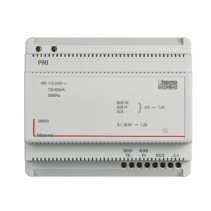 Netzgerät 2-Draht mit integriertem Videoadapter. Für Audio- und Videoanlagen geeignet. 6 TE DIN.