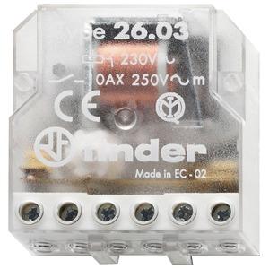 26.03.8.230.0000, Stromstoßschalter für Chassis oder UP-Dose, 1 Öffner und 1 Schließer 10 A, Aus An/An Aus, für 230 V AC