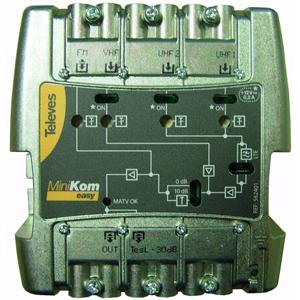 Mehrbereichsverstärker  4 Eingänge UKW/VHF/UHF/UHF