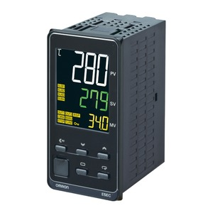 E5EC-QX4ABM-010, Temperaturregler, 1/8DIN (48 x 96mm), 12VDC Pulsausgang, 4 Hilfsausgänge, Universaleingang, 1x Heizungsbruch-Erkennung, 4x Eventeingänge, 100-240VAC