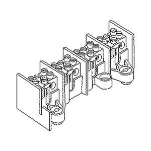 2645/1, Hauptleitungs-Abzweigklemme 25 mm², 39x47x33 mm, 1 Pol, Kunststoff PA, RAL 7035, lichtgrau