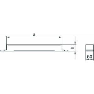 VL 35048E, Verbindungslasche leitend 50x350x48, St, FS