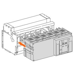 Einschubgehäuse ohne Anschlüsse, für NW1600N1 H1 H2, 3p
