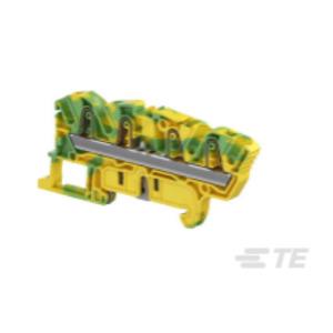 ZK4-PE-4P, ZK4-PE-4P PI-Federkraftklemmenblock - Masse - Grün Gelb, 4 mm²