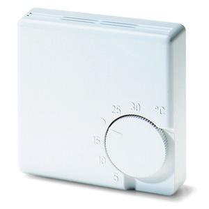 RTR-E 3521, Raumtemperaturregler AC 230V/10A/1 Öffner, 5 - 30°C, reinweiss, RTR-E 3521