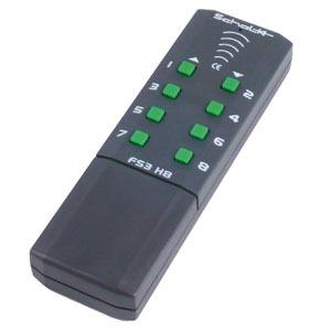 FS3 H8, Funk-Handsender 8-Kanal edelgrau 3V DC inkl. Batterie