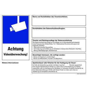 AKL Video DSGVO, Aufkleber Videoüberwachung