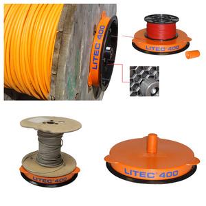HKABROLL400L, Kabelabroller, Gewicht: ca.3,5Kg, Durchmesser: ca.40cm,Traglast: 500 Kg; Randhöhe: ca. 60 mm