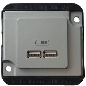 USB Ladestation, mattsilber, PANZER