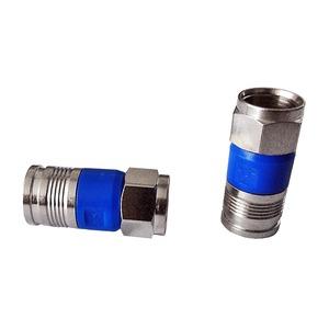 F-TFC 49, F-Stecker zur werkzeuglosen Montage, passend für Koaxialkabel mit Dielektrikum 4,5 - 4,7mm²