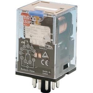 MKS3PI-5 12VDC, 3 W, 10A, mech. Schaltstellungsanzeige, feststellbare Prüftaste, Pinning nach EN 50005