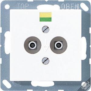 A 565-2, Potentialausgleich-Steckdose, 2 Steckerstifte nach DIN 42801, Tragring