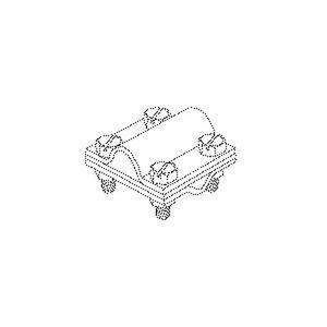 27/816, Kreuz-Verbinder 60x60x4 mm mit Klemmplatte, für Runddraht, Stahl, feuerverzinkt DIN EN ISO 1461