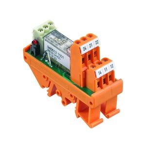 RS 32 115VUC LD LP 2U, Relaiskoppler, eingelötetes Relais, 115 V UC +5 % / -15 %, LED rot, Gleichrichter, 2 Wechsler (AgNi 90/10) , 250 V AC, 4 A, Schraubanschluss