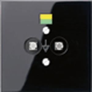 LS 965-2 SW, Potentialausgleich-Steckdose, 2 Steckerstifte nach DIN 42801, Tragring