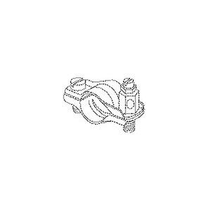 17/08, Erdungs-Rohrschelle, 38x20 mm, für Rohr-Ø 8-10 mm, Kupfer