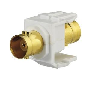 KMK-BNC-C rw, BNC-C-Keystone, Bajonett (Buchse/Buchse), für Montageadapter KMK-MA Up und andere Keystone-Aufnahmen, reinweiß (ähnlich RAL 9010)