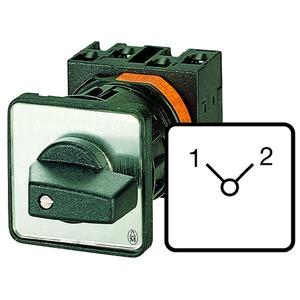 T0-4-8223/EZ, Umschalter, Kontakte: 8, 20 A, Frontschild: 1-2, 90 °, rastend, Zentraleinbau