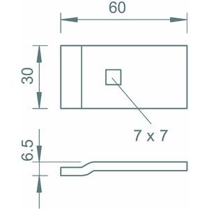 LKS 60 4 FT, Klemmstück für Kabelleiter LG110 60x30, St, FT