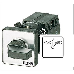 TM-2-15432/EZ, Umschalter, TM, 10 A, Zentraleinbau, 2 Baueinheit(en), Kontakte: 4, 60 °, rastend, mit 0-Stellung, HAND-0-AUTO, Abwicklungsnummer 15432