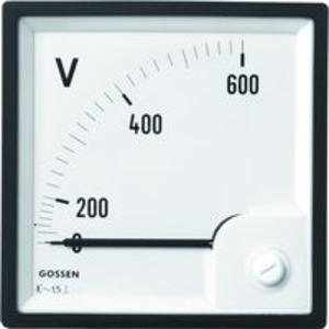 Anzeigeinstrument Typ EQB 96, Messbereich 500V, Skala 500V