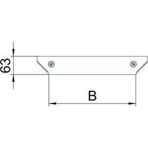 DFAAM 100 FS, Deckel Anbau-Abzweigstück für RAAM 100 B=100mm, St, FS