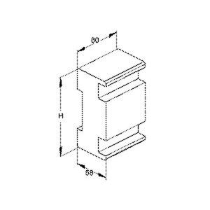 GKSK 170, GK-Sägekern, Höhe 167 mm, De-Öffnung 78 mm, Tiefe 60 mm, Kunststoff, Polyethylen