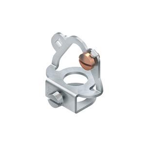 445E, Leuchtenaufhänger, 30x29,5x18 mm, Rohr-Ø 10 mm, Stahl, galvanisch verzinkt DIN EN ISO 2081, blaupassiviert