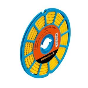 CLI C 1-6 GE/SW L1 CD, Kabelmarkierungssystem, 3 - 5 mm, 6 x 4.2 mm, Aufgedruckte Zeichen: gemischte Zeichen, L1, PVC, weich, ohne Cadmium, gelb