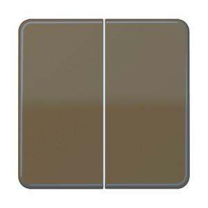 CD 595 BF BR, Wippe, bruchsicher, für Serien-Wippschalter, Serien-Tastschalter, Doppel-Wechsel-Wippschalter, Doppel-Wechsel-Tastschalter und Doppel-Taster