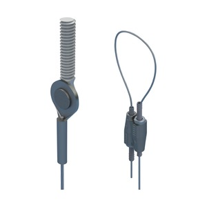 SLK2L5SEM6, nVent CADDY Speed Link SLK mit Gewindeanschluss, 2 mm Stahlseil, 5 m (16,4') Länge, M6 Stabgröße