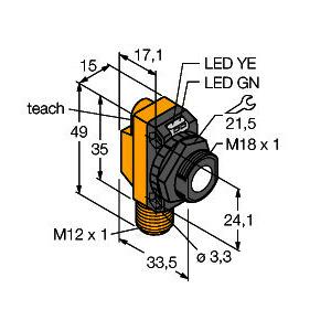 QS18UPAQ8, Ultraschallsensor, Reflexionstaster