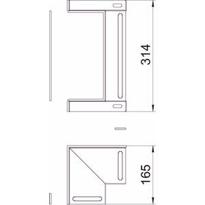 BSKM-IE 1025RW, Inneneck für Wand- und Deckenmontage 100x250, St, L, reinweiß, RAL 9010