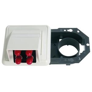 LWL-Anschlussdose OAD 1-fach mit 4xST, montiert alpinweiß