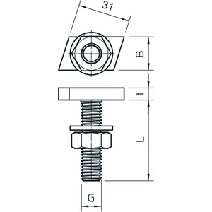 ACMHB M8x30 ZL, Hammerkopfschraube für Profilschienen Mittel M8x30mm, St, ZL