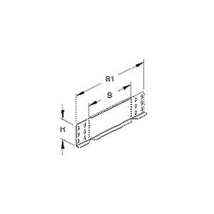 RA 85.400, Reduzier-/Abschlussstück für KR, 85x400 mm, Stahl, bandverzinkt DIN EN 10346, inkl. Zubehör