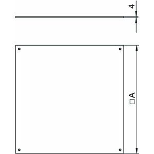 DU 250-2, Blinddeckel für UZD250-2/3 282x282x4, St, FS