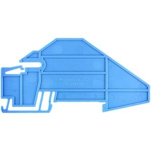 PHP PNT 6/10, Abschluss- und Zwischenplatte (Klemmen), Abschluss- und Zwischenplatte, 85.28 mm x 3 mm, blau