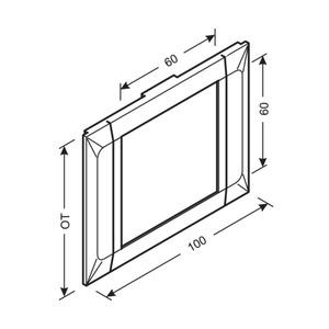 Blende Einbauset Daten PVC BR OT 100 cw